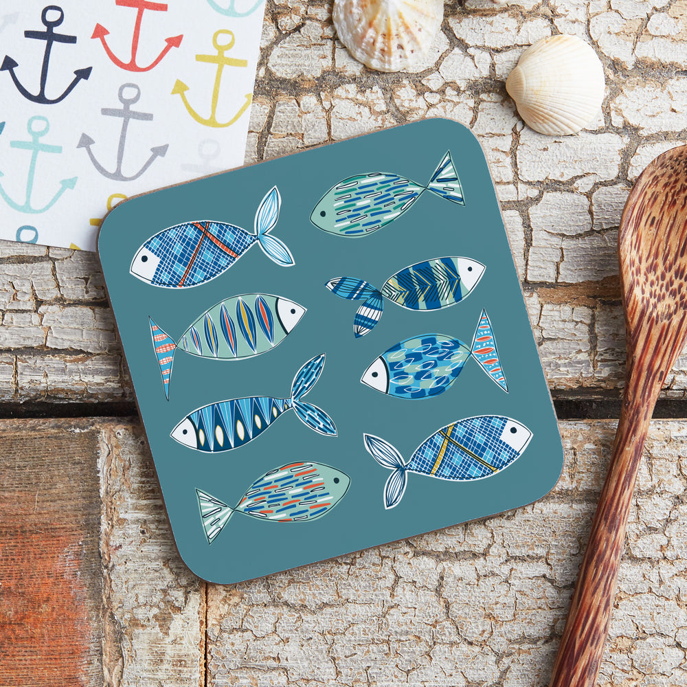 Patterned Fish Coaster