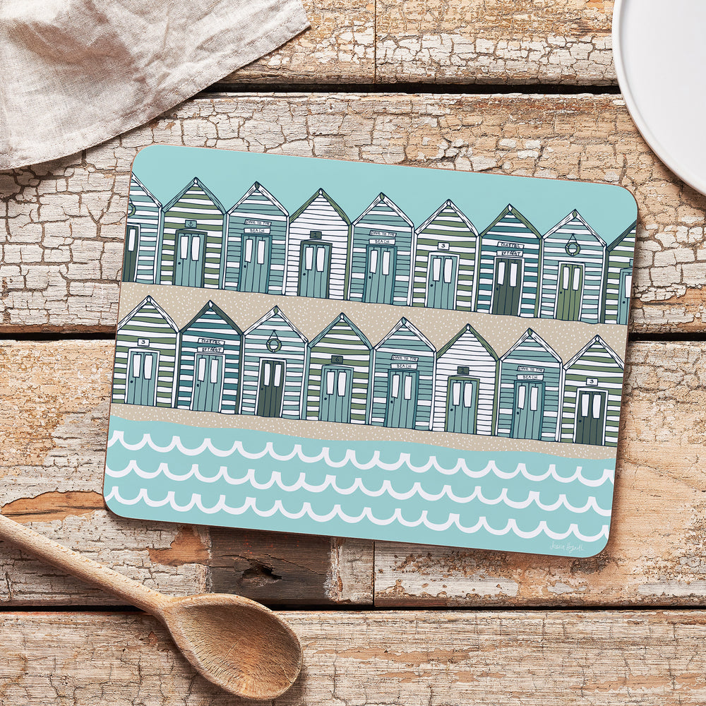 Load image into Gallery viewer, Beach Huts Sand Melamine Placemat