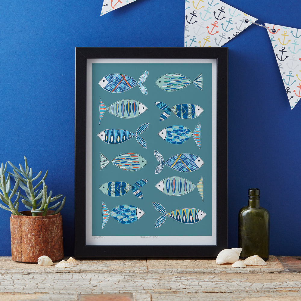 Load image into Gallery viewer, Patterned Fish Art Print