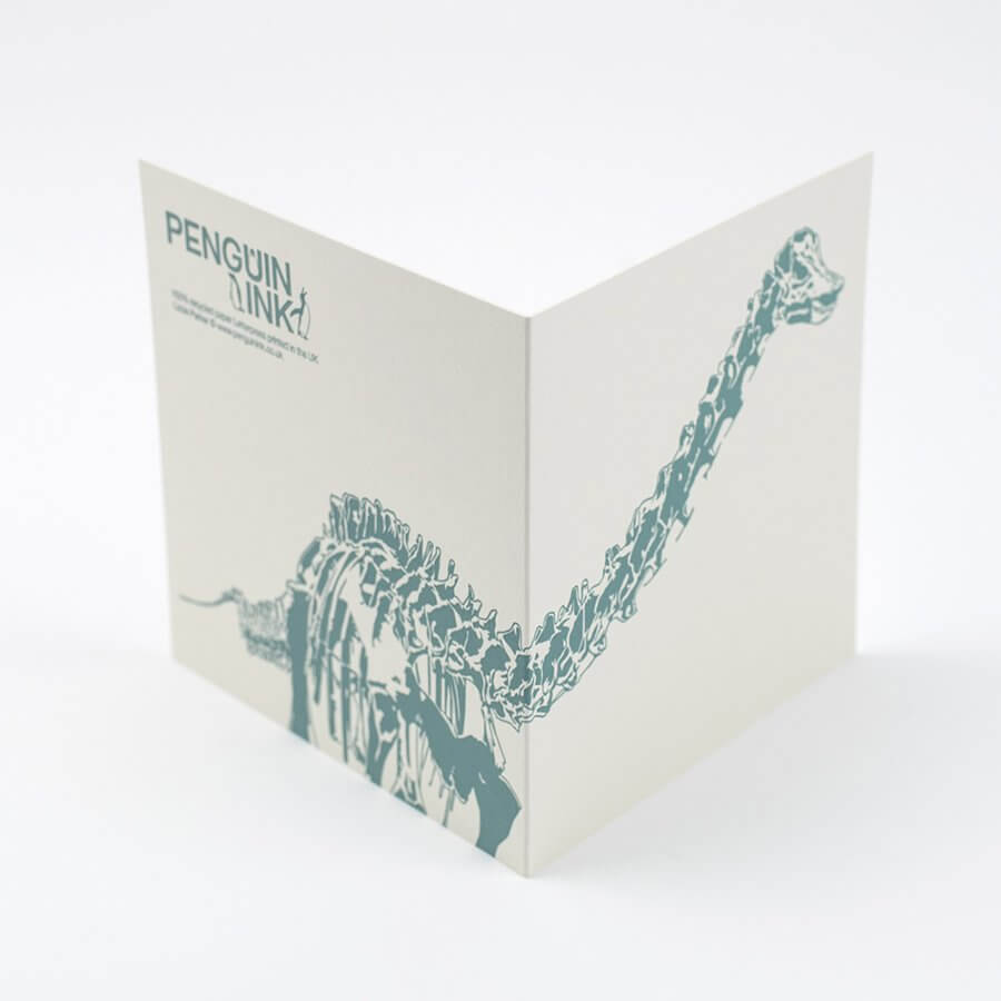Load image into Gallery viewer, Diplodocus 'Dippy' Dinosaur Letterpress Card - Green