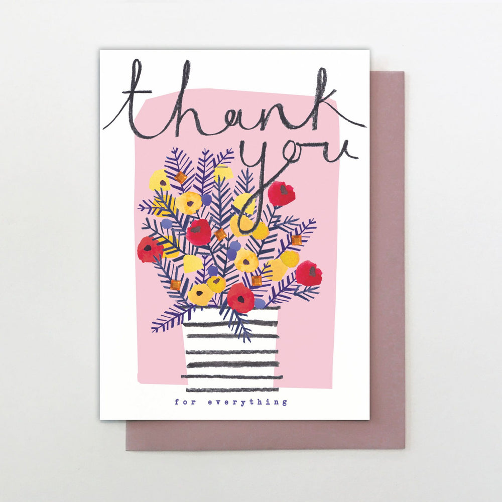 Flower Sparkle Thank You Card