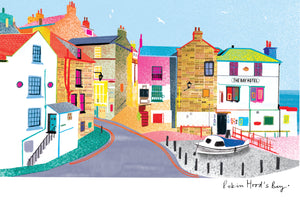 Load image into Gallery viewer, Robin Hood's Bay by Ilona Drew Tea Towel