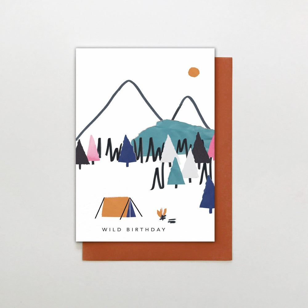 Wild Camping Birthday Card
