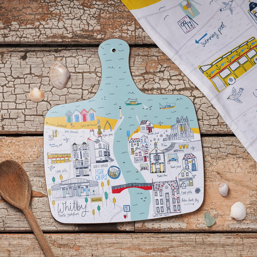 Whitby Map Chopping Board - Medium
