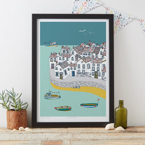 Load image into Gallery viewer, Coastal Village Art Print