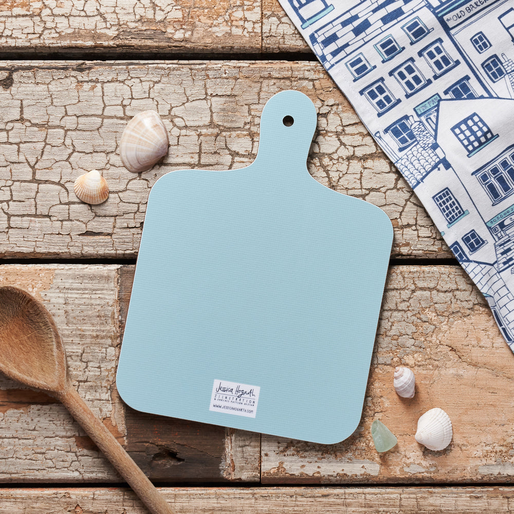 Load image into Gallery viewer, Houses Illustration Chopping Board - Small