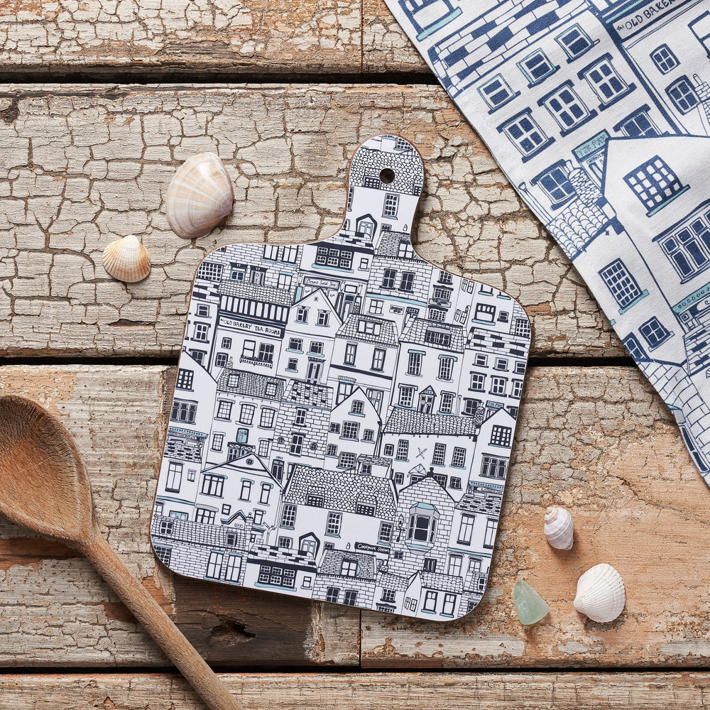 Houses Illustration Chopping Board - Small