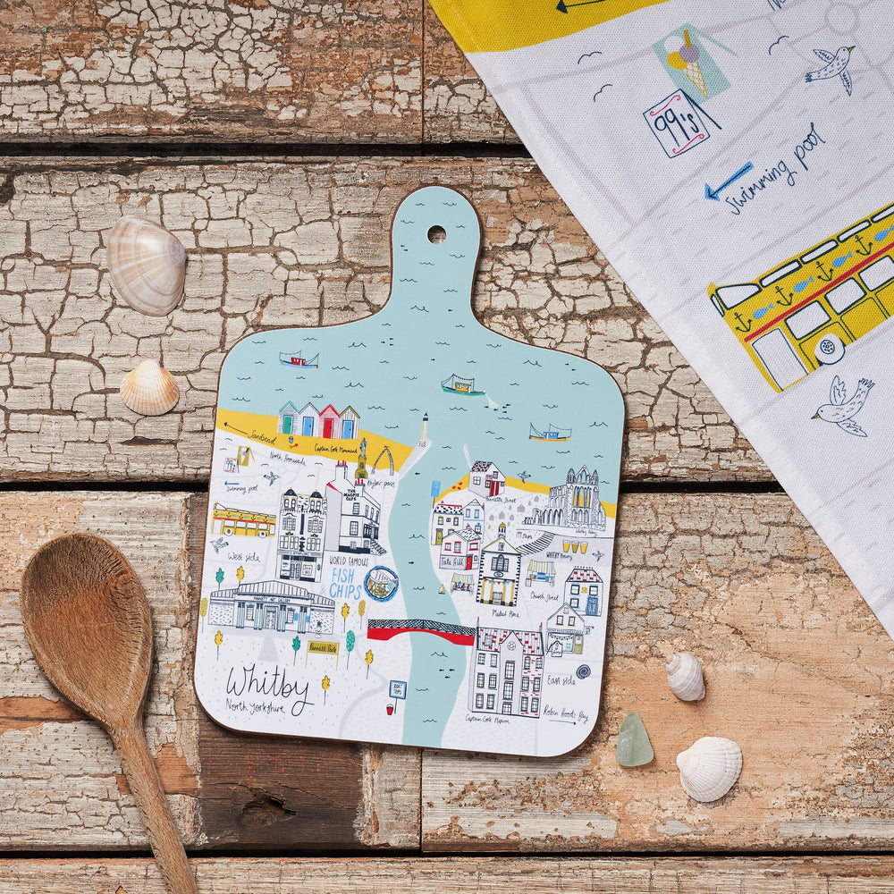 Whitby Map Chopping Board - Small