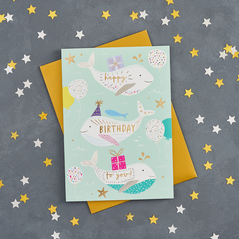 Whales Birthday Card