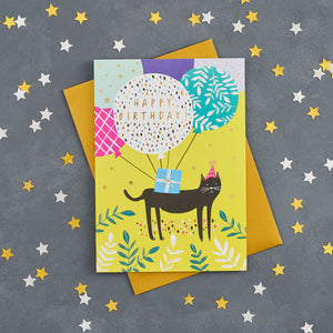 Load image into Gallery viewer, Black Cat Birthday Card