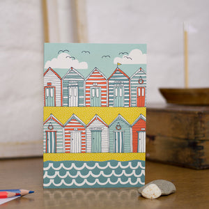 Load image into Gallery viewer, Beach Huts Greeting Card
