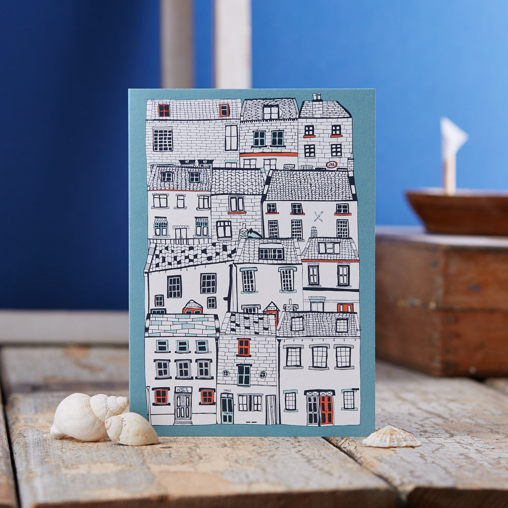 Houses Illustration Greeting Card