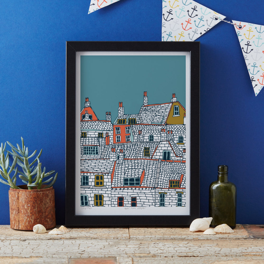 Over the Rooftops Art Print