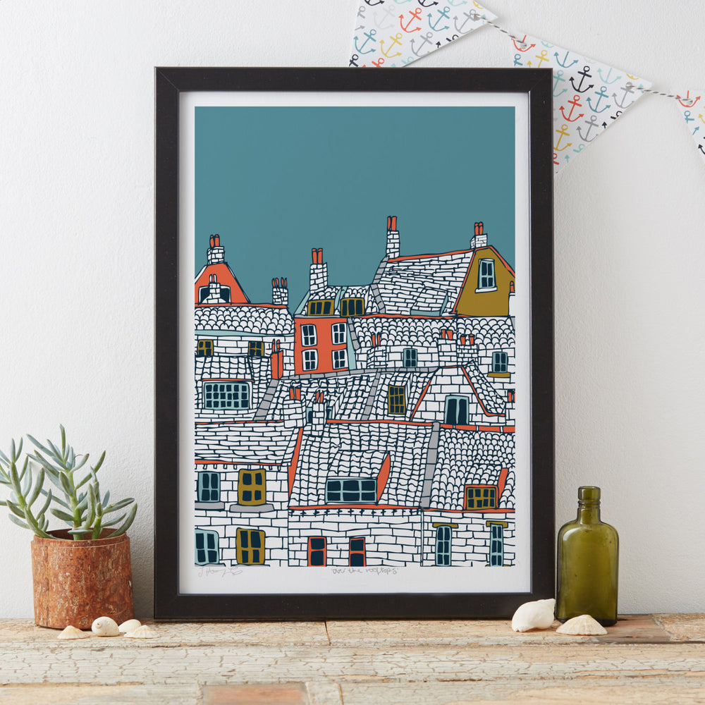 Load image into Gallery viewer, Over the Rooftops Art Print