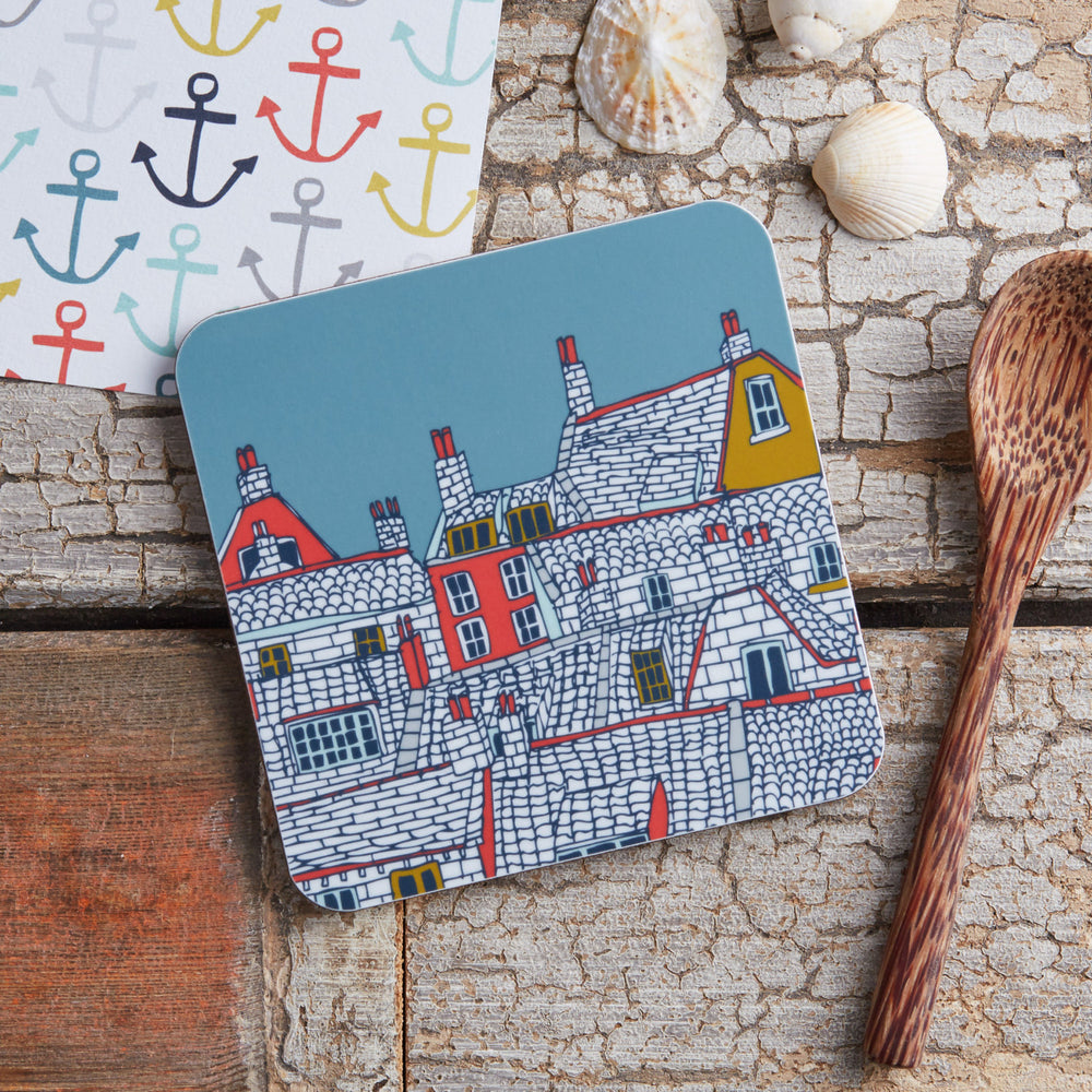 Rooftops Illustration Coaster