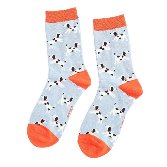 Little Dalmatian Bamboo Socks - Powder Blue