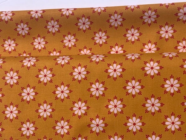 Geo Floral in Brown, True Kisses by Heather Bailey in 1 yard, 1/2 yard, or Fat Quarter fabric cuts.