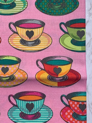 Tea Time In Wonder | Curiouser & Curiouser by Tula Pink in Half Yard Fabric Cuts