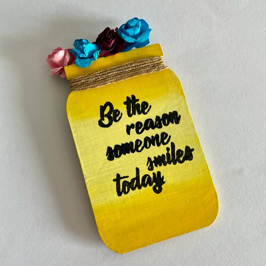 Smile Today Fridge Magnet
