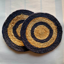 Load image into Gallery viewer, Blue Jute Placemat