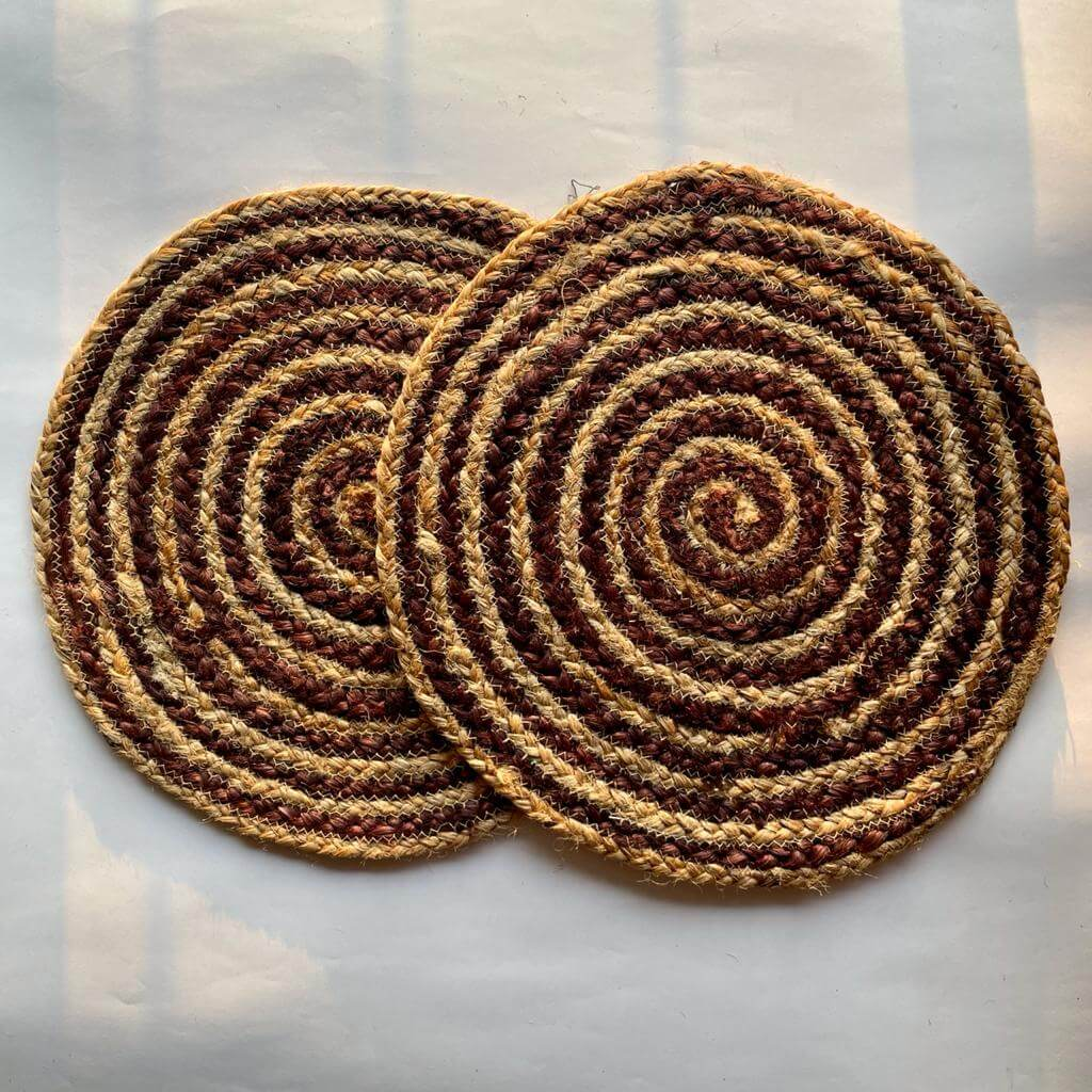 Brown Spiral Jute Placemat