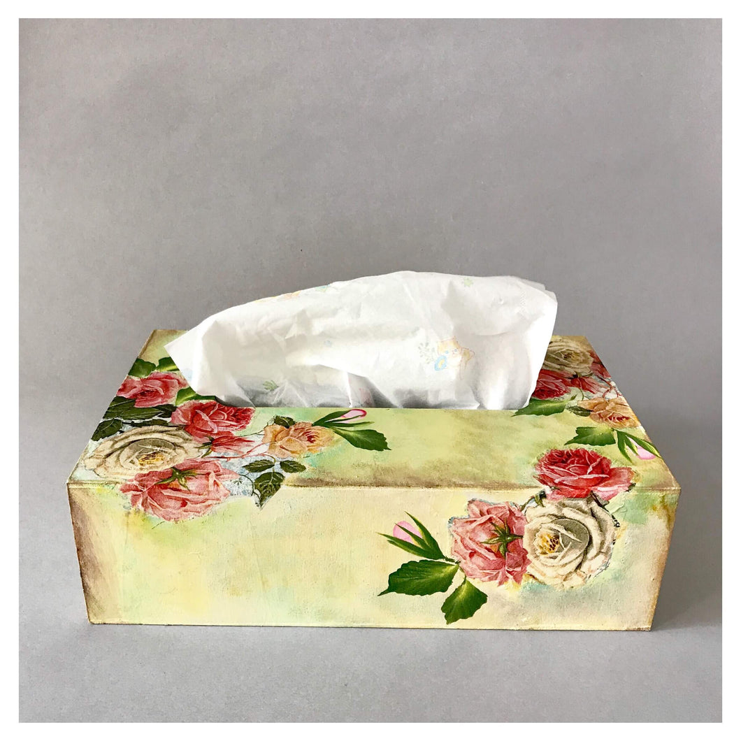 Rose Garden Tissue Box