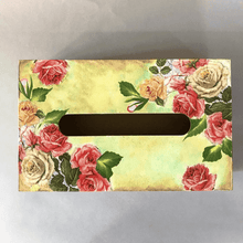 Load image into Gallery viewer, Rose Garden Tissue Box