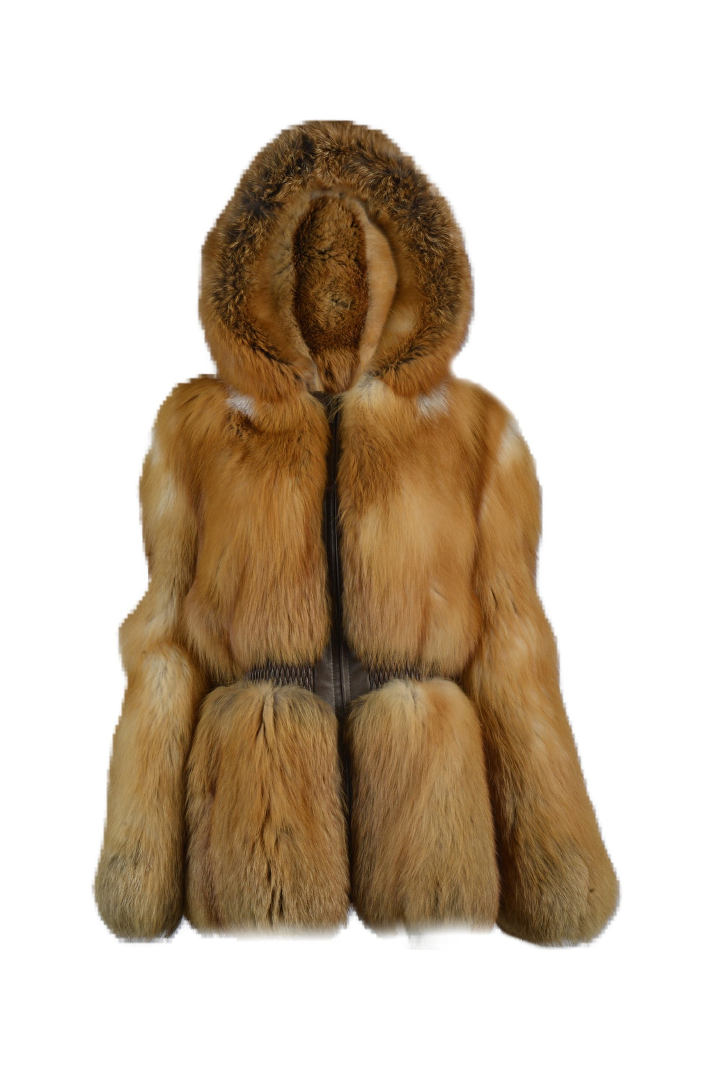 Natural Red Fox Parka with fitted waist.