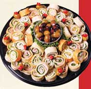 Pin Wheel Wraps Platter