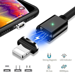 Magnetic Charging Cable (IOS, USB-C, Micro USB)