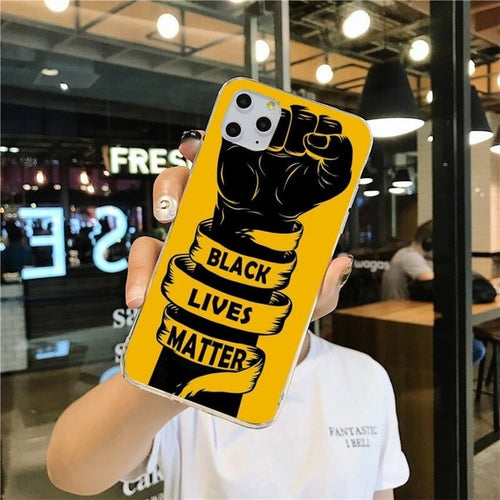 Black Lives Matter BLM Painted Phone Case