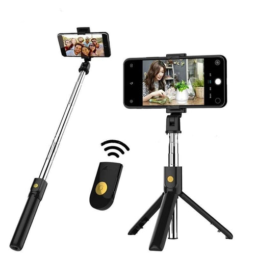 3 in 1 Wireless Bluetooth Selfie Stick with Shutter Remote Tripod