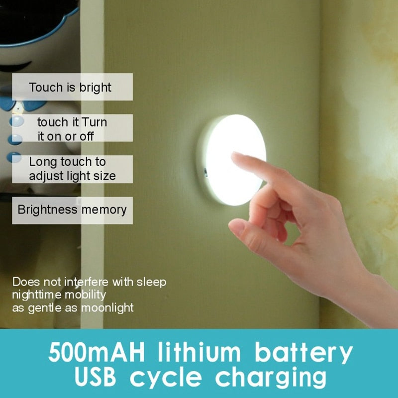 Mini USB charged Motion Sensor/Touch light