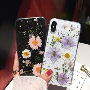 Dried Flower Clear Phone Cases For iPhone