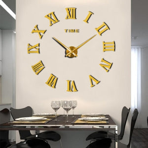3D Fully Functional Wall Clock Decor