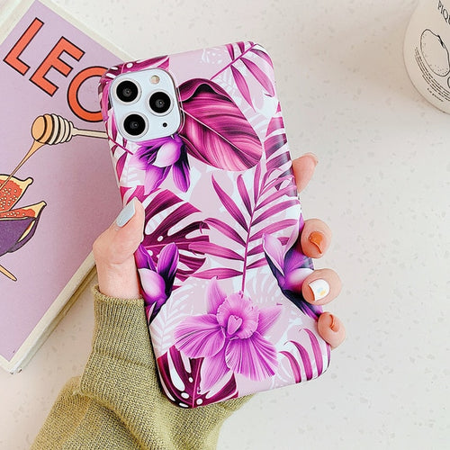 Flowers/Leaves Phone Case for iPhone 12 & 12 Pro