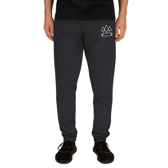 Mountains and Trees Embroidered Unisex Joggers