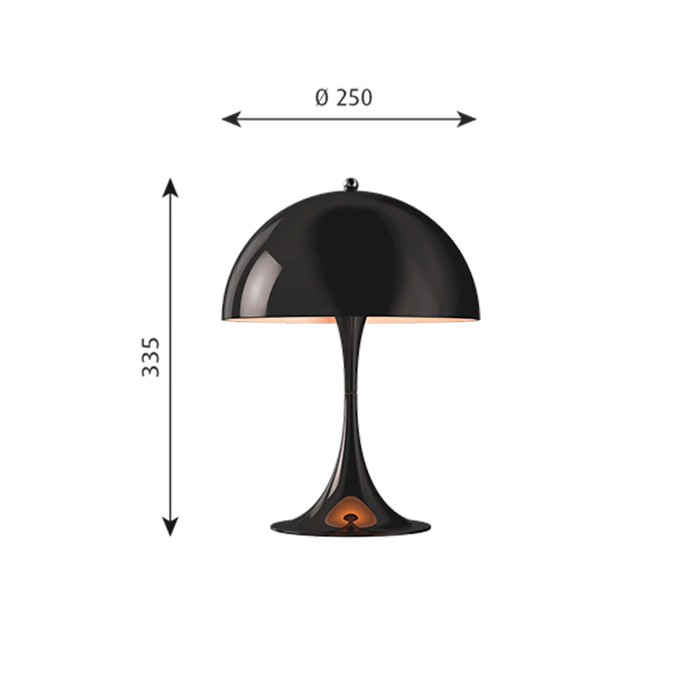 Louis Poulsen Panthella Mini Bordlampe, Sort