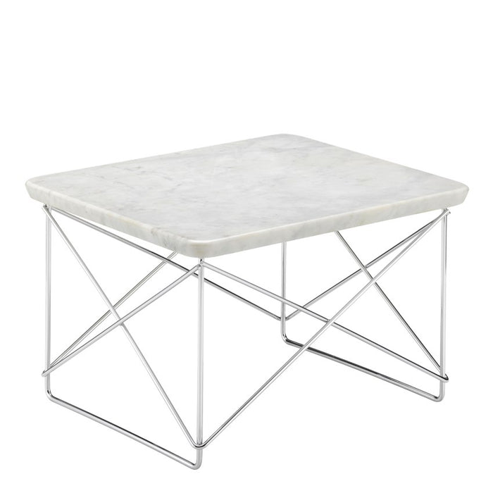 Vitra Occasional Table LTR Marmor, Hvit/Krom