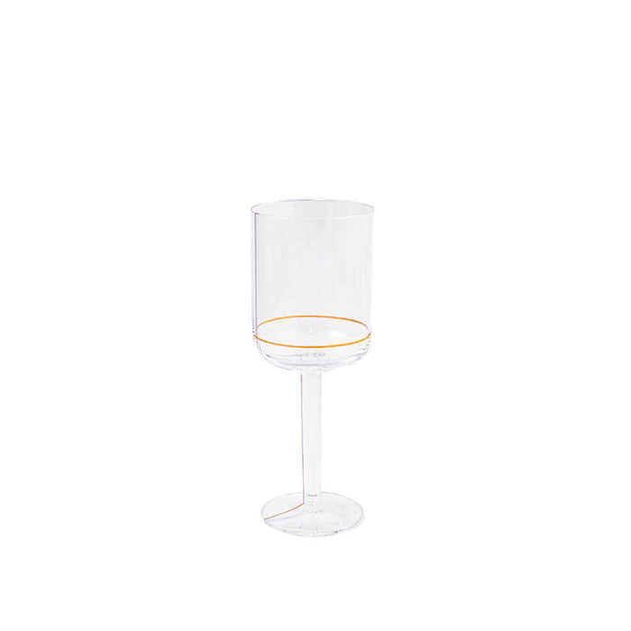 HAY Colour White Wine Glass with Gold Lines - light
