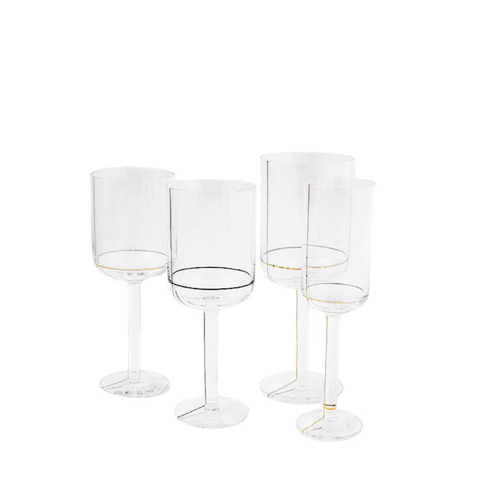 HAY Colour Champagne Glass with Gold Lines