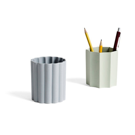 HAY IRIS Pen Holder, round, grey
