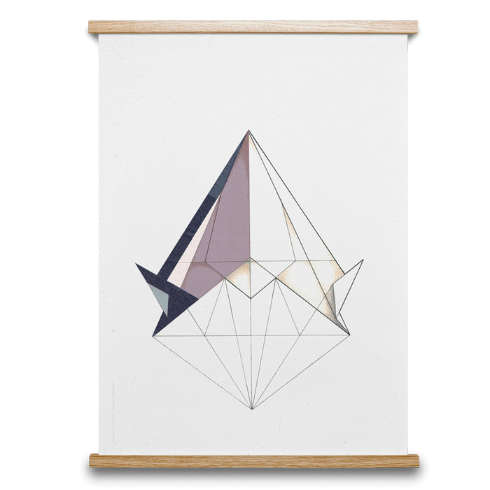 Paper Collective Poster, Diamond Lines