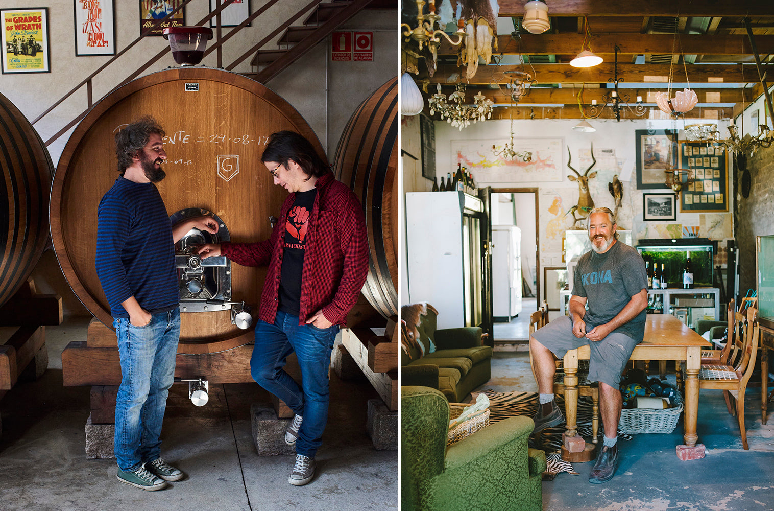 Dani and Fer aka Comando G (for Garnacha!) in their winery in Gredos. Adi Badenhorst makes exceptional Grenache from some of the oldest vines in the Swartland