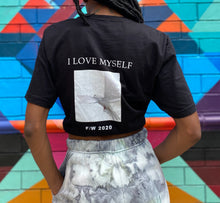 Load image into Gallery viewer, Black soft lightweight jersey knit I love myself t shirt BLKEVRTH