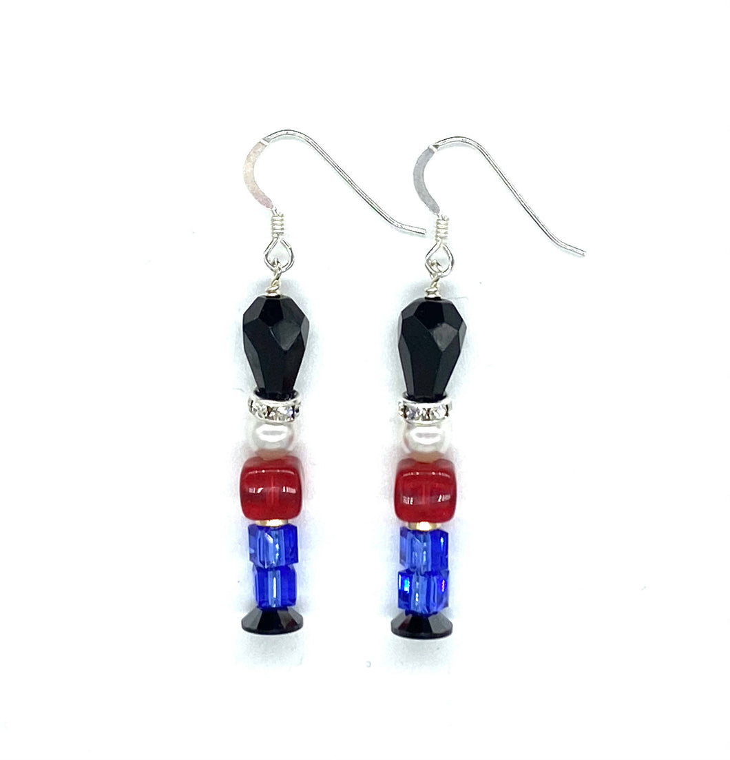 Christmas/Toy Soldiers Swarovski Crystal Earring