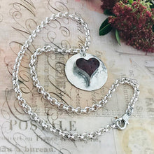 Load image into Gallery viewer, Red Heart Crystal Necklace