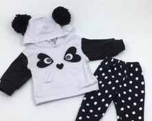 Load image into Gallery viewer, Panda Hoodie Doll Outfit Set