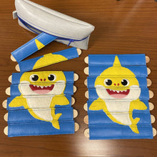 Load image into Gallery viewer, Baby Shark inspired Stick Puzzle with Storage Pouch