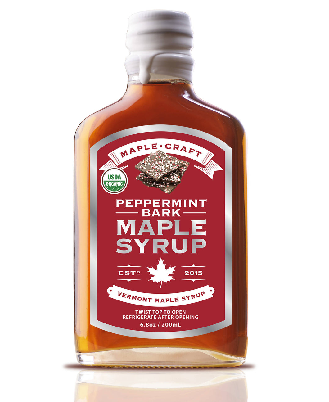 Organic Peppermint Bark Maple Syrup